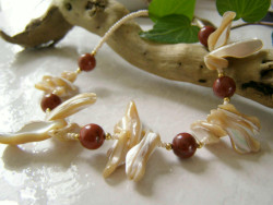 MOP and Red Jasper Necklace