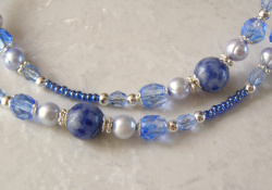 sodalite and czech glass